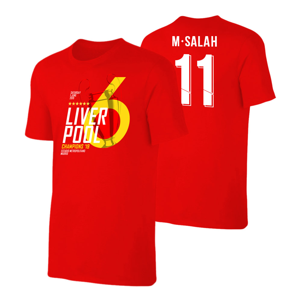 save off 86dbd fa78f Liverpool CL19 'Champions' t-shirt SALAH, red