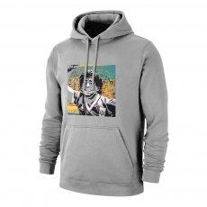 Maradona 'GOAT' footer with hood, grey