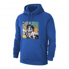 Maradona 'GOAT' footer with hood, blue