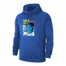 Maradona 'Abstract DIEGO' footer with hood, blue