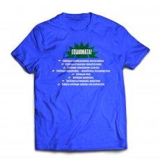 PASOK 'ΕΠΙΔΟΜΑΤΑ' t-shirt, blue