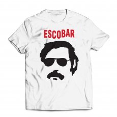 Escobar t-shirt 'portrait', white