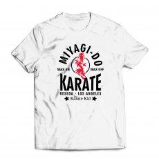"Miyagi Do ""Wax On, Wax Off"" t-shirt, white"