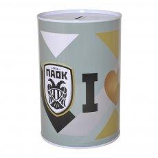 "PAOK money tin ""I Love PAOK"""