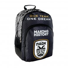 PAOK backpack 'One TEAM, One DREAM', black