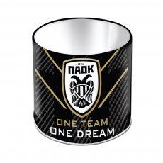 PAOK metal pencil holder 'PAOK FC' 10x11cm