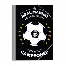 Real Madrid folder with bands 25x35cm 'CAMPEONES'