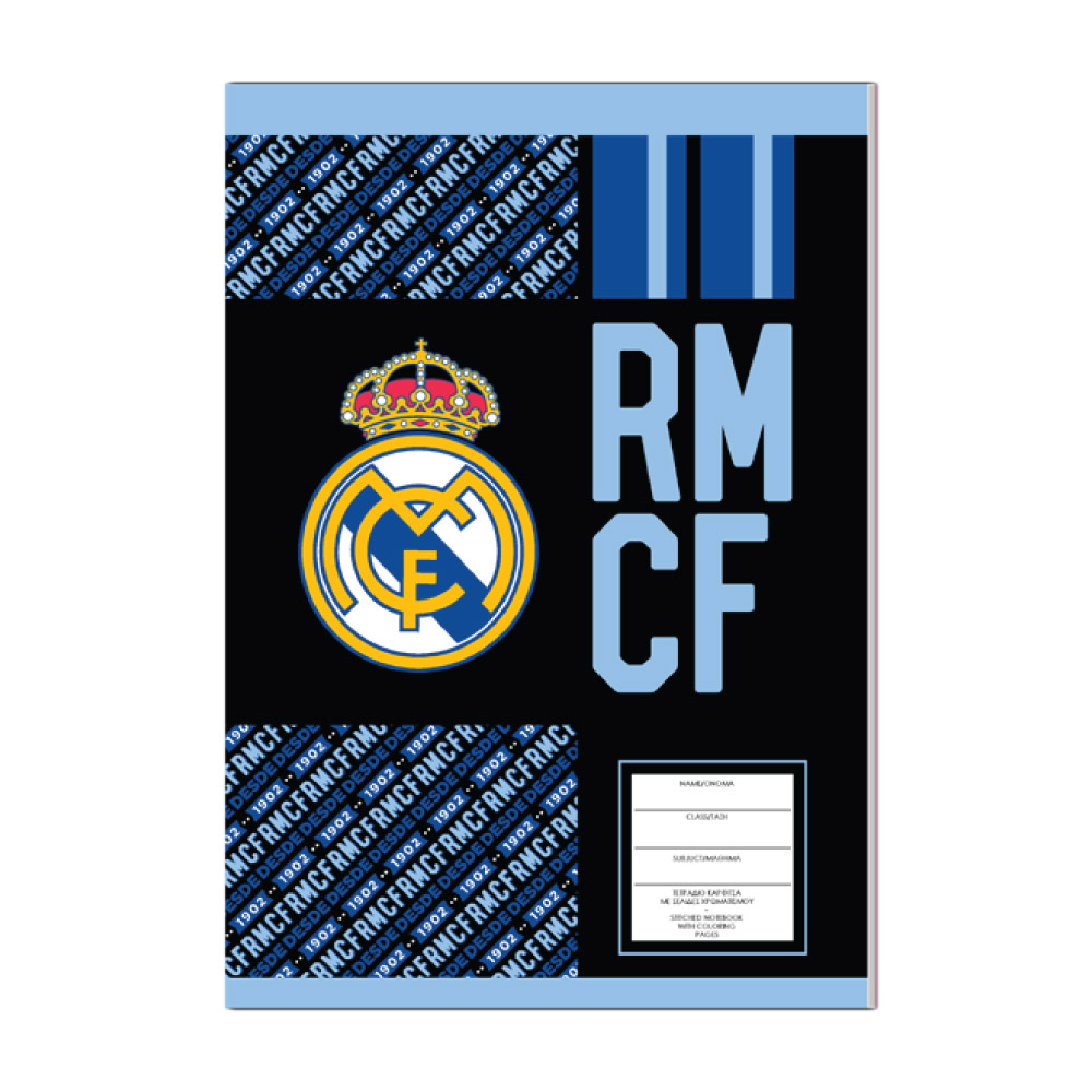 Real Madrid 40sh stiched notebook 17x25cm