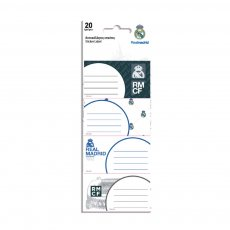 Real Madrid sticker labels 5 designs - 20 pcs
