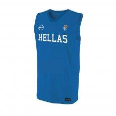 Greece NT basketball sleeveless training shirt GSA, blue