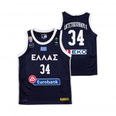 Greece NT basketball 2019 home shirt ANTETOKOUNMPO G. GSA, dark blue