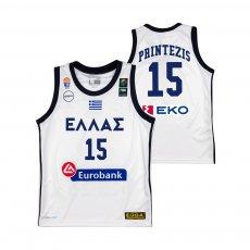 Greece NT basketball 2019 away shirt PRINTEZIS GSA, white