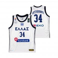 Greece NT basketball 2019 away shirt ANTETOKOUNMPO G. GSA, white