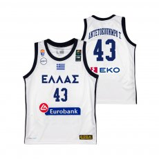 Greece NT basketball 2019 away shirt ANTETOKOUNMPO T. GSA, white