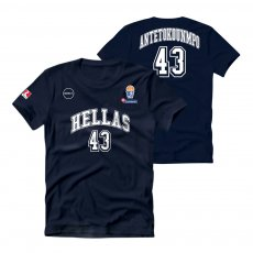 Greece NT basketball 2019 t-shirt HOTEL ANTETOKOUNMPO T. GSA, dark blue