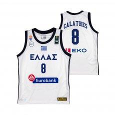 Greece NT basketball 2019 away shirt CALATHES GSA, white