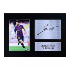 MESSI A4 photo with autograph HWC