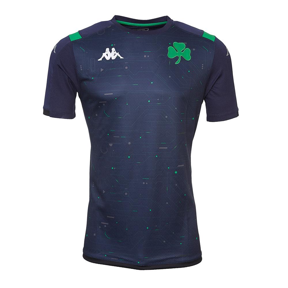 Panathinaikos 2019/20 Line-Up junior training shirt KAPPA, dark blue