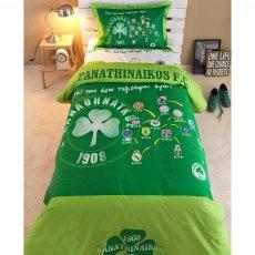 Panathinaikos bed sheets  set 170 x 260cm Palamaiki