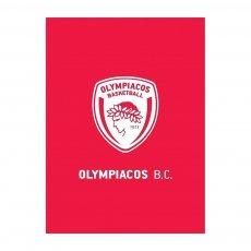 Olympiacos BC fleece blanket 130 x 170εκ. Palamaiki