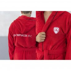 Olympiacos BC kids bathrobe 12-14 years old Palamaiki
