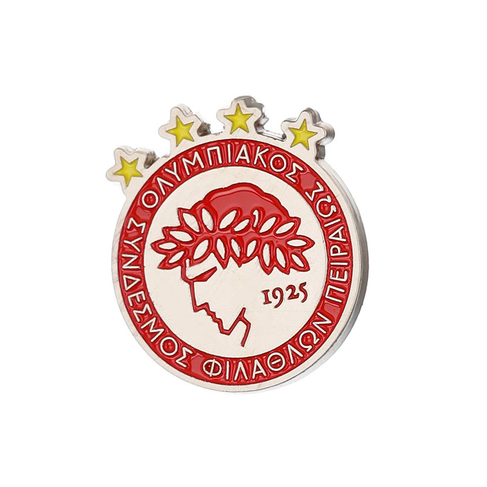 "Olympiakos lapel pin ""4 Stars"""