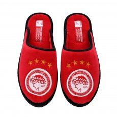 Olympiacos slippers, red