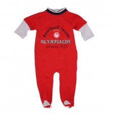 "Olympiakos baby sleepsuit ""Footsteps"", red"