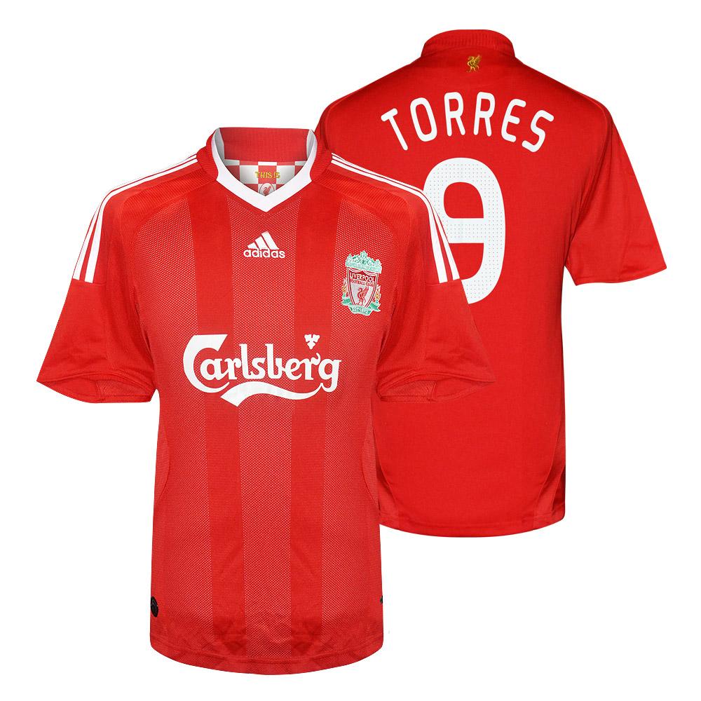 Liverpool 2008/09 home shirt TORRES (CL)