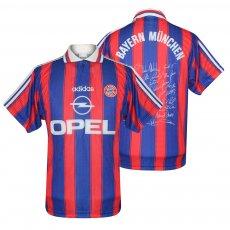 Bayern Munich 1996/97 home shirt with player signatures