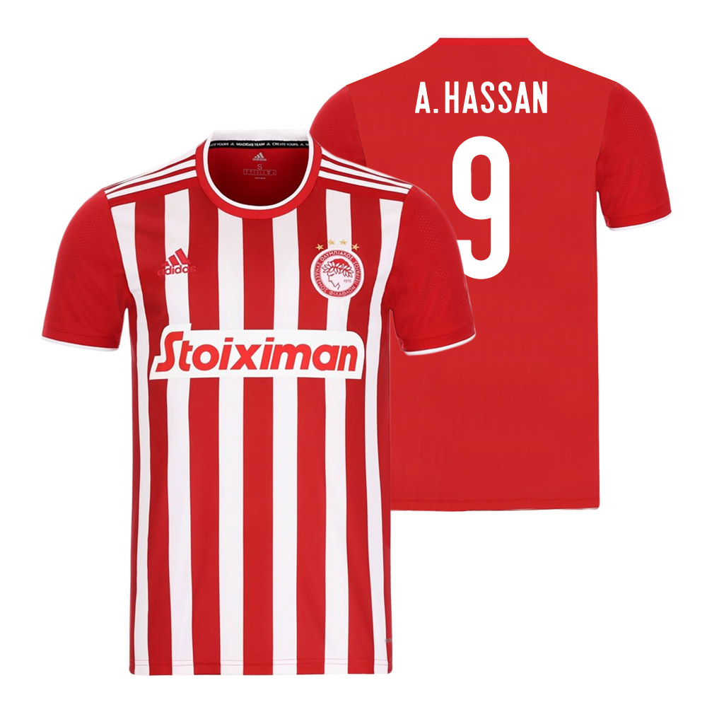Olympiakos 2021/22 home shirt HASSAN