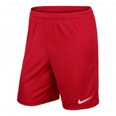 Nike Park II junior football shorts, red