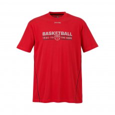 Spalding Team t-shirt, red/black