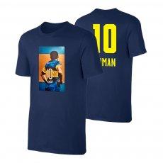 "Román Riquelme ""No10"" t-shirt, dark blue"