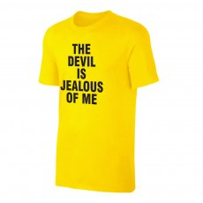Haaland 'THE DEVIL IS JEALOUS OF ME' t-shirt, yellow