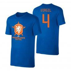 Netherlands EU2020 'Het Nederlands Elftal' t-shirt VAN DIJK, blue
