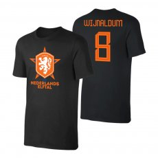 Netherlands EU2020 'Het Nederlands Elftal' t-shirt WIJNALDUM, black
