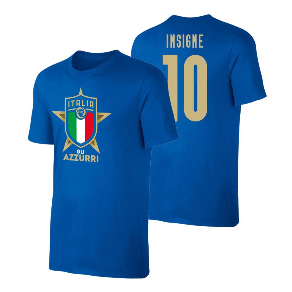 Ιταλία EU2020 μπλουζάκι 'GLI AZZURRI' ΙΝΣΙΝΙΕ, μπλε