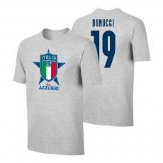 Italy EU2020 'GLI AZZURRI' t-shirt BONUCCI, grey
