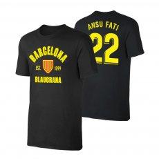 Barcelona 'Est.1899' t-shirt ANSU FATI, black