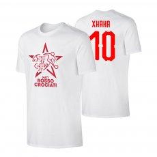 Switzerland EU2020 'NATI ROSSOCROCIATI' t-shirt XKAKA, white