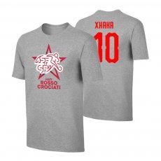Switzerland EU2020 'NATI ROSSOCROCIATI' t-shirt XHAKA, grey