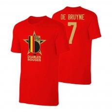 Belgium EU2020 'LES DIABLES ROUGES' t-shirt DE BRUYNE, red