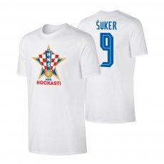 Croatia EU2020 'KOCKASTI' t-shirt SUKER, white