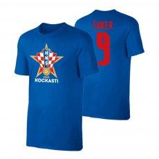 Croatia EU2020 'KOCKASTI' t-shirt SUKER, blue