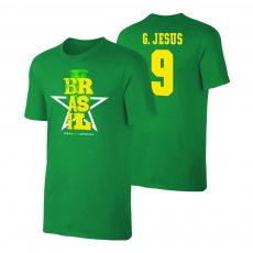 Brasil CA2021 'Qualifiers' t-shirt JESUS, green