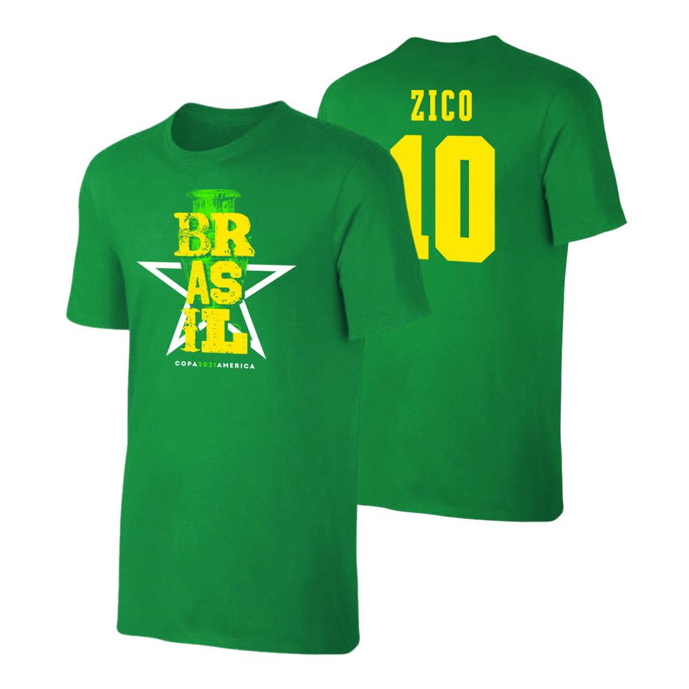 Brasil CA2021 'Qualifiers' t-shirt ZICO, green