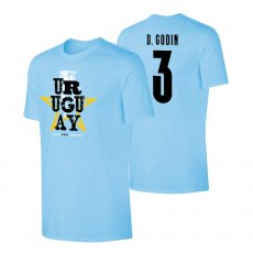 Uruguay CA2021 'Qualifiers' t-shirt GODIN, light blue