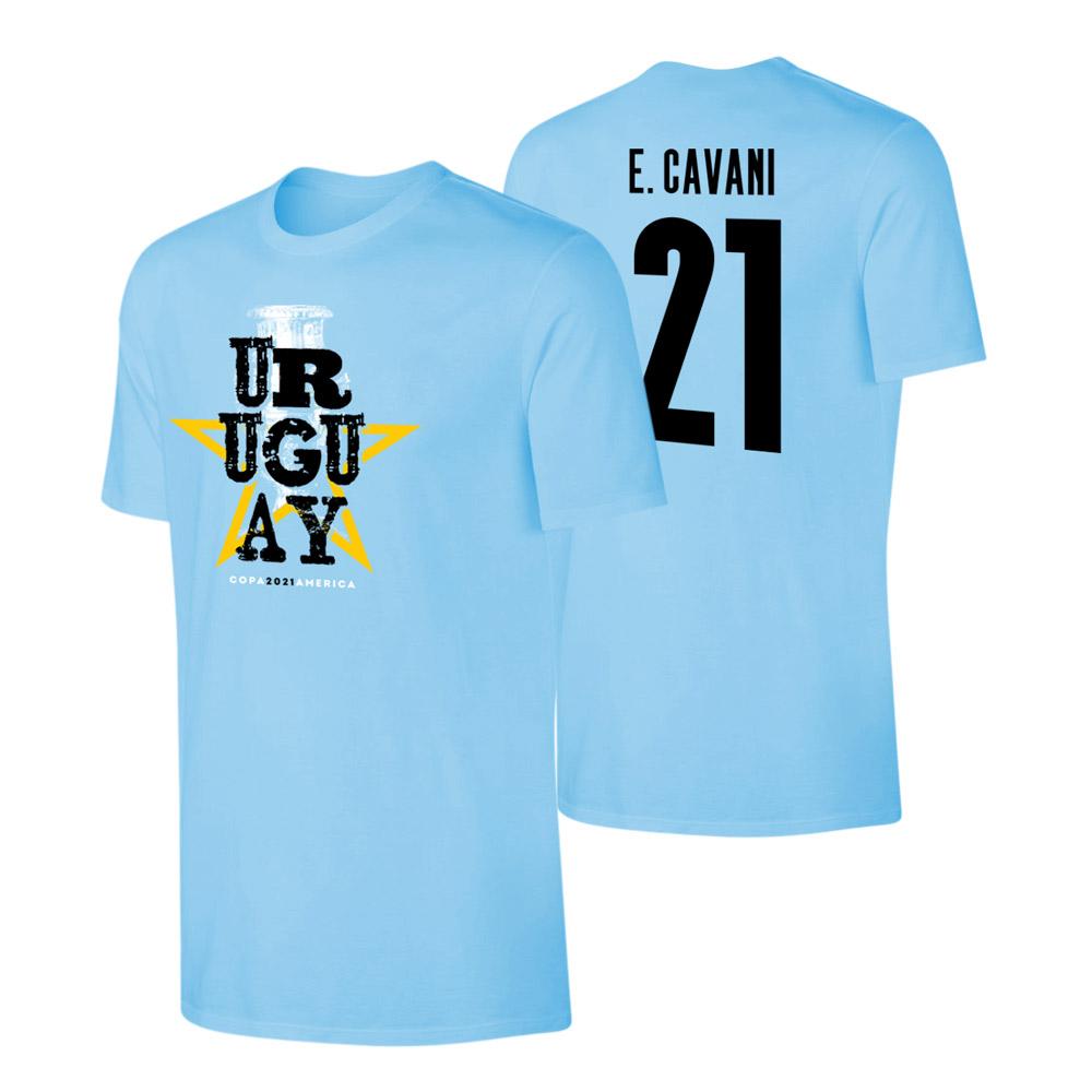 Uruguay CA2021 'Qualifiers' t-shirt CAVANI, light blue