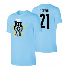 Uruguay CA2021 'Qualifiers' t-shirt CAVANI, light blue